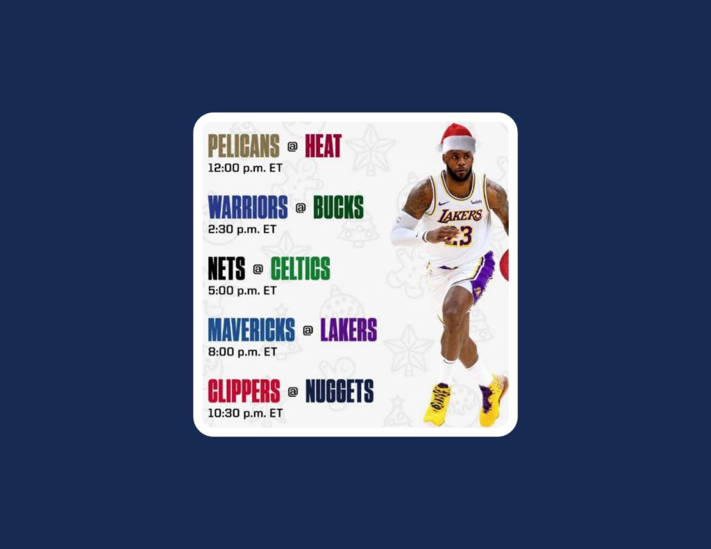 NBA Christmas 2020